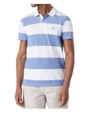 Wrangler SS STRIPE POLO W7F7 Surf Blue