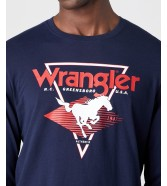 Wrangler LS MODERN AMERICANA TEE W7G0D Navy