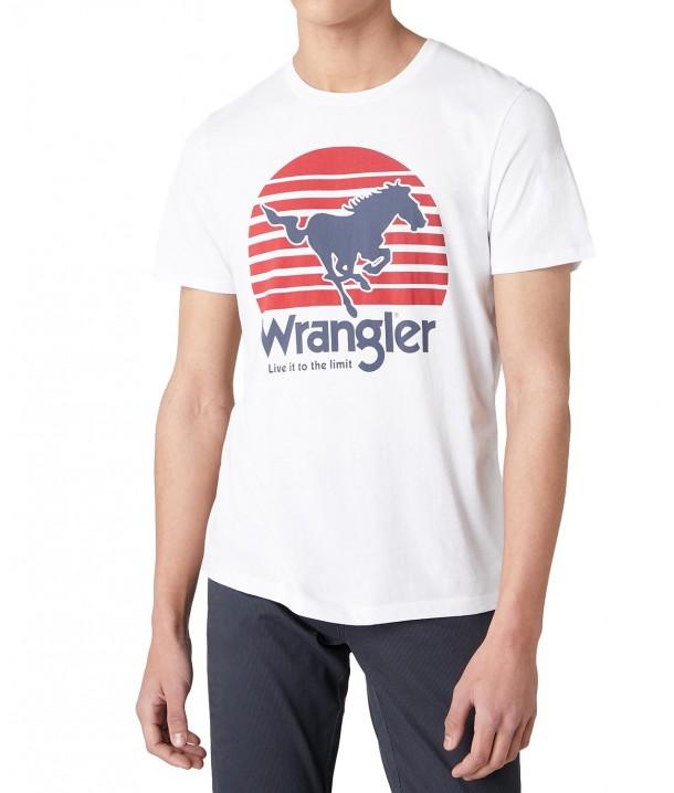 Wrangler SS HORSE TEE W7G1D White