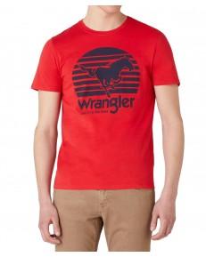 Wrangler SS HORSE TEE W7G1D Mars Red