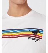 Wrangler SS EXPLORER TEE W7G2F Off White