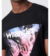 Wrangler SS COWBOY COOL TEE W7G7 Black