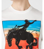 Wrangler SS GRAPHIC HORSE TEE W7H1D Off White