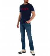 T-shirt Wrangler SS LOGO TEE W7J4 Navy