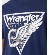 T-shirt Wrangler AMERICANA TEE W7J6D Navy