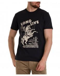 T-shirt Wrangler COLLEGIATE TEE W7K2D Faded Black