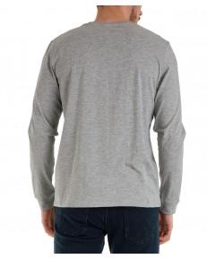 Koszulka Wrangler LS BIKER TEE W7K5 Mid Grey Mel