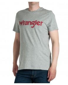 Wrangler SS LOGO TEE W7M0D Mid Grey Mele