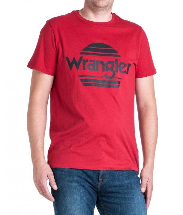 Wrangler SS SUNSET TEE W7M2F Red W7M2FQX47