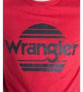 Wrangler SS SUNSET TEE W7M2F Red