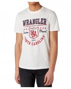 Wrangler SS AMERICANA TEE W7M8 Off White