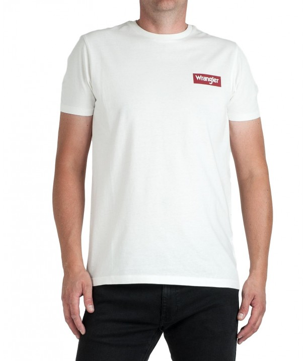 Wrangler SS BLOCK TEE W7MB Off White