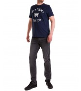 T-shirt Wrangler SS JEANS TEAM TEE W7MLD Navy
