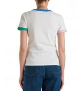 T-shirt Wrangler RINGER TEE W7N0 Marina Blue