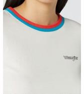 Wrangler DOUBLE RINGER TEE W7N7G Offwhite