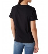 Wrangler HIGH RIB REGULAR TEE W7N9F Black