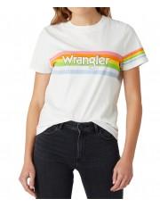 T-shirt Wrangler HIGH RIB REGULAR TEE W7N9G Worn White
