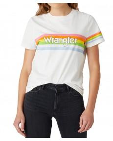 Wrangler HIGH RIB REGULAR TEE W7N9G Worn White