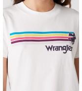 Wrangler HIGH RIB REGULAR TEE W7N9G Off White
