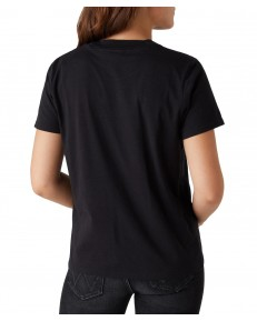 Wrangler HIGH RIB REGULAR TEE W7N9G Faded Black