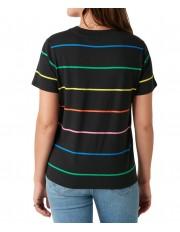 T-shirt Wrangler HIGH RIB REGULAR TEE W7N9G Black