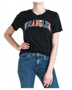 Wrangler HIGH RIB REGULAR TEE W7N9E Black