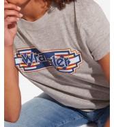 Wrangler GEO TEE W7N9E Mid Grey Mel