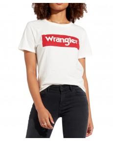 Wrangler LOGO TEE W7P3E Offwhite
