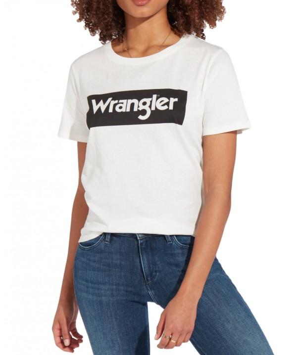Wrangler LOGO TEE W7P3E Offwhite W7P3EVX02