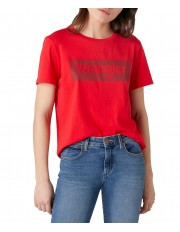 Wrangler LOGO TEE W7P3E Lollipop Red