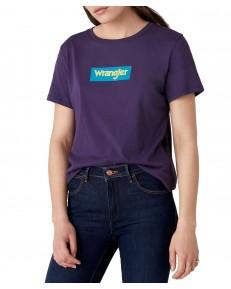 T-shirt Wrangler LOGO TEE W7P3E Purple Velvet