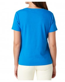 Wrangler SIGN OFF TEE W7Q0D Strong Blue