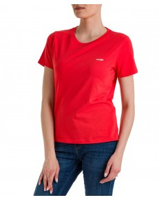 T-shirt Wrangler SIGN OFF TEE W7Q0 Poppy Red