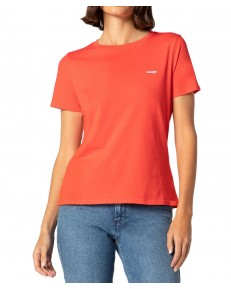 Wrangler SIGN OFF TEE W7Q0E Bittersweet Red