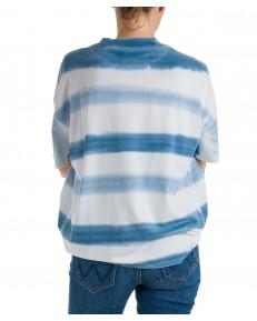 T-shirt Wrangler HIGH NECK GIRLFRIEND TEE W7Q9 Litte Boy Blue