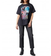T-shirt Wrangler OVERSIZE TEE W7R3G Wornblack