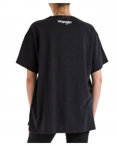T-shirt Wrangler OVERSIZE TEE W7R3G Worn in Black