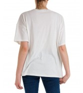 T-shirt Wrangler GIRLFRIEND TEE W7R9 Worn White
