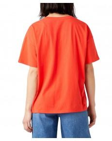 T-shirt Wrangler GIRLFRIEND TEE W7R9 Poppy Red