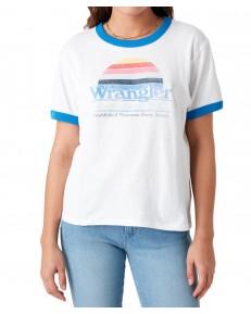Wrangler RELAXED RINGER TEE W7S0D White