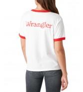 T-shirt Wrangler RELAXED RINGER TEE W7S0D Flame Red
