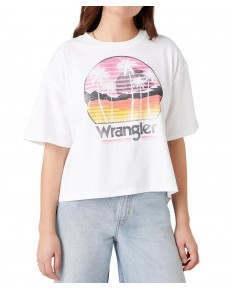 Wrangler BOXY TEE W7S2 White