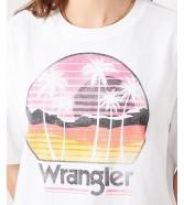 T-shirt Wrangler BOXY TEE W7S2 White
