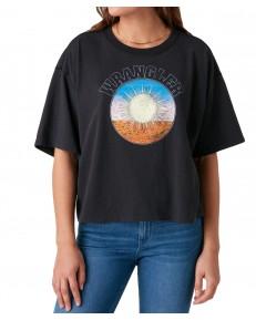 T-shirt Wrangler BOXY TEE W7S2 Washed Black