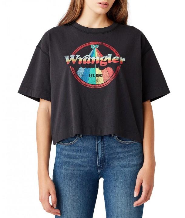 T-shirt Wrangler BOXY TEE W7S2 Black