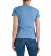 T-shirt Wrangler SLIM STRIPE TEE W7S3D Marina Blue