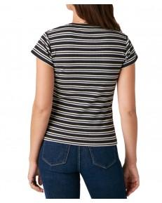 T-shirt Wrangler SLIM STRIPE TEE W7S3D Faded Black