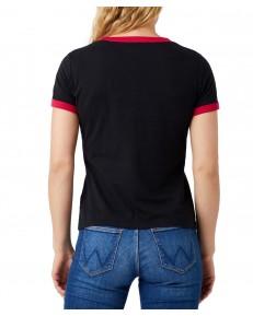 T-shirt Wrangler RINGER TEE W7Z3 Black