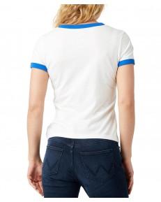 T-shirt Wrangler RINGER TEE W7Z3 Off White