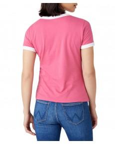 T-shirt Wrangler RINGER TEE W7Z3 Carmine